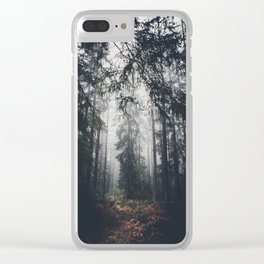 Dark paths Clear iPhone Case