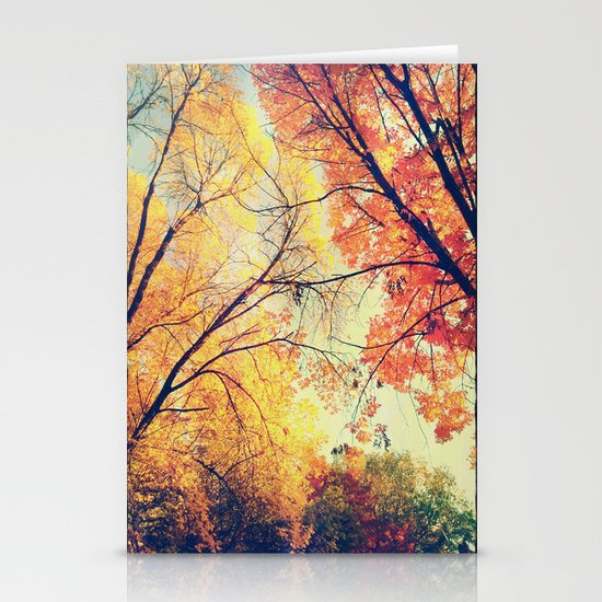Autumn Embrace Stationery Cards
