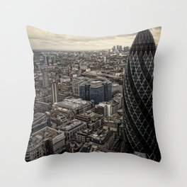 London from the 39th floor Throw Pillow