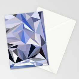 abstract pattern geometric triangle mosaic background low poly style Stationery Cards