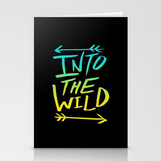 Into The Wild: Typography Stationery Cards