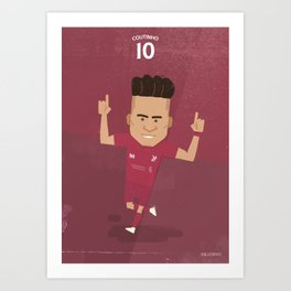 The Tens | Philippe Coutinho - Liverpool FC Art Print