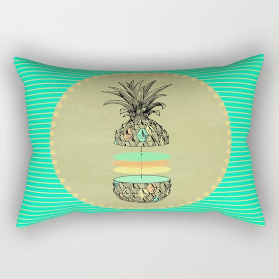 Sliced pineapple Rectangular Pillow