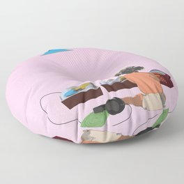 two turntables Floor Pillow