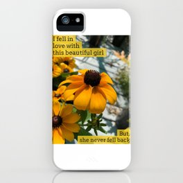 I fell in love once iPhone Case