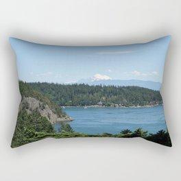 Mount Baker Again Rectangular Pillow
