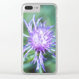 Knapweed Clear iPhone Case