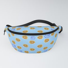Spiral and golden flowers Fanny Pack