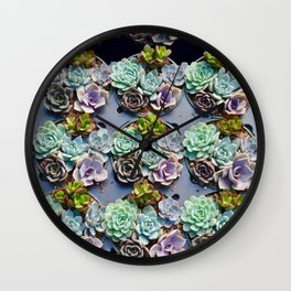 succulent cupcakes Wall Clock
