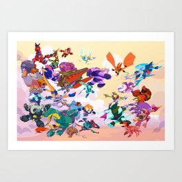 Battle Beasts Series 1 Art Print