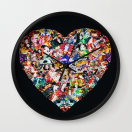 Heart by Lika Ramati Wall Clock