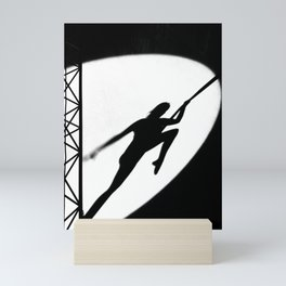 aerial acrobatics Mini Art Print