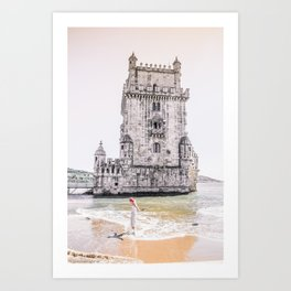 Belem Tower girl Art Print