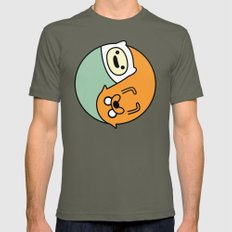 Adventure Time Yin-Yang / Jake-Finn SMALL Mens Fitted Tee Lieutenant