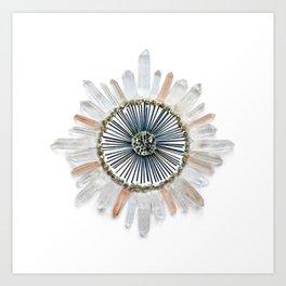 Stillness Crystal Grid Art Print