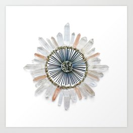 Stillness Crystal Grid Art Print