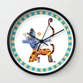 The Dance of Rama Wall Clock