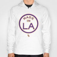 lakers Hoodies featuring Made in LA - LAKERS by DCMBR - December Creative Group