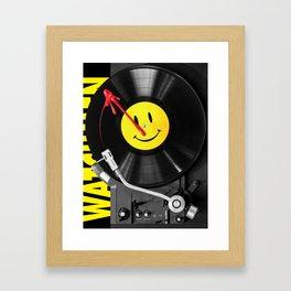 """""""Bloody Turntable"""" Watchmen fan art Framed Art Print"""
