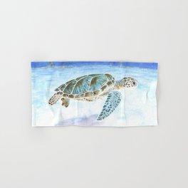 Sea turtle underwater Hand & Bath Towel