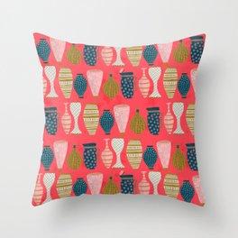 Opulent vases Throw Pillow