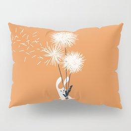 Bunny and Dandelion Bouquet Pillow Sham