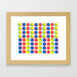 Primary Dots Framed Art Print