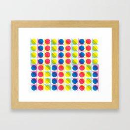 Primary Dots Framed Art Print