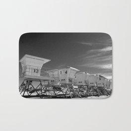 BEACH - California Beach Towers - Monochrome Bath Mat