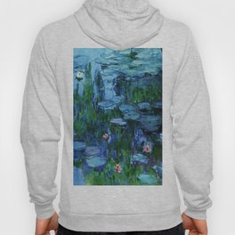 Claude Monet Water Lilies / Nymphéas Teal Hoody