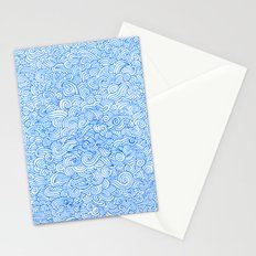 Water Wind Doodle Stationery Cards