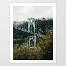 St. John's Bridge in Portland Art Print