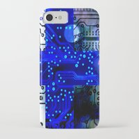 finland iPhone & iPod Cases featuring circuit board Finland by seb mcnulty