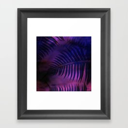 Forest Ferns - Warm Framed Art Print