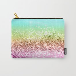 Rainbow Girls Glitter #1 #shiny #decor #art #society6 Carry-All Pouch