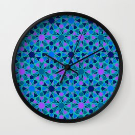 Spanish Director - Al-Nasir Pattern Blue with Green Lines Wall Clock