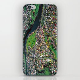 Hamilton City, New Zealand - Aerial view  iPhone Skin