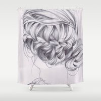 elegant Shower Curtains featuring elegant by Jill Schell