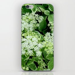AWESOME DELICATE GREEN LACE FLOWERS iPhone Skin