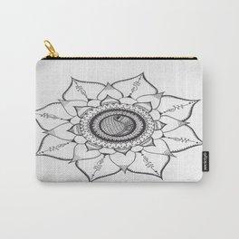 Hand Drawn Unalome Mandala Carry-All Pouch