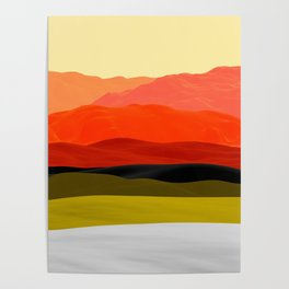 Mountains in Gradient Poster