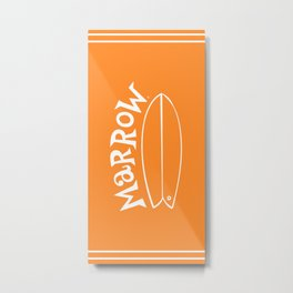 Surfari Orange 50/50 · Marrow  Metal Print