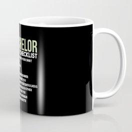 Bachelor Party Checklist Coffee Mug