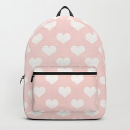 Pink Coral Love Hearts Backpack