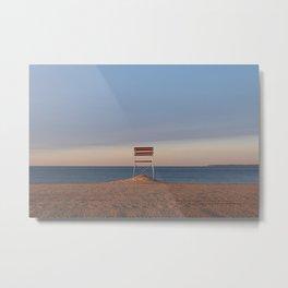 Sunrise on the beach in Coney Island New York City Metal Print
