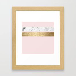 Baby doll - blush pink marble Framed Art Print