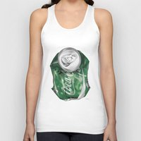 coca cola Tank Tops featuring Coca-Cola Life by Kenny Risk