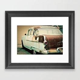 rusty car Framed Art Print