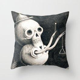 SkullMan Throw Pillow