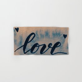 Valentine's Day Watercolor Love – neutral Hand & Bath Towel
